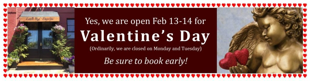 Valentines Day at Little Red Day Spa