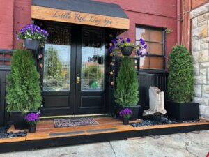 The Little Red Day Spa entrance